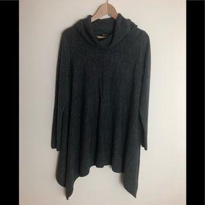 Relativity cow neck longsleeve sweater tunic